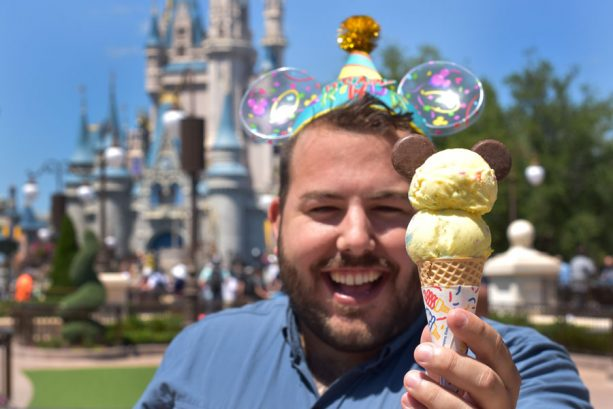Birthday Cake Ice Cream of the Month at Plaza Ice Cream Parlor at Magic Kingdom Park