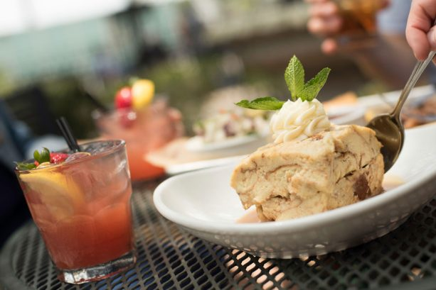 Homemade Bread Pudding and Fine and Mellow at House of Blues Restaurant & Bar for Discover Bourbon at Disney Springs