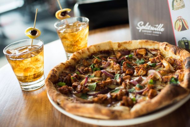 BBQ Chicken Pizza and The Trifecta at Splitsville Dining Room for Discover Bourbon at Disney Springs