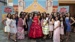 "Disney Channel series ""Elena of Avalor"" receives the Media Trailblazer Award, group photo"