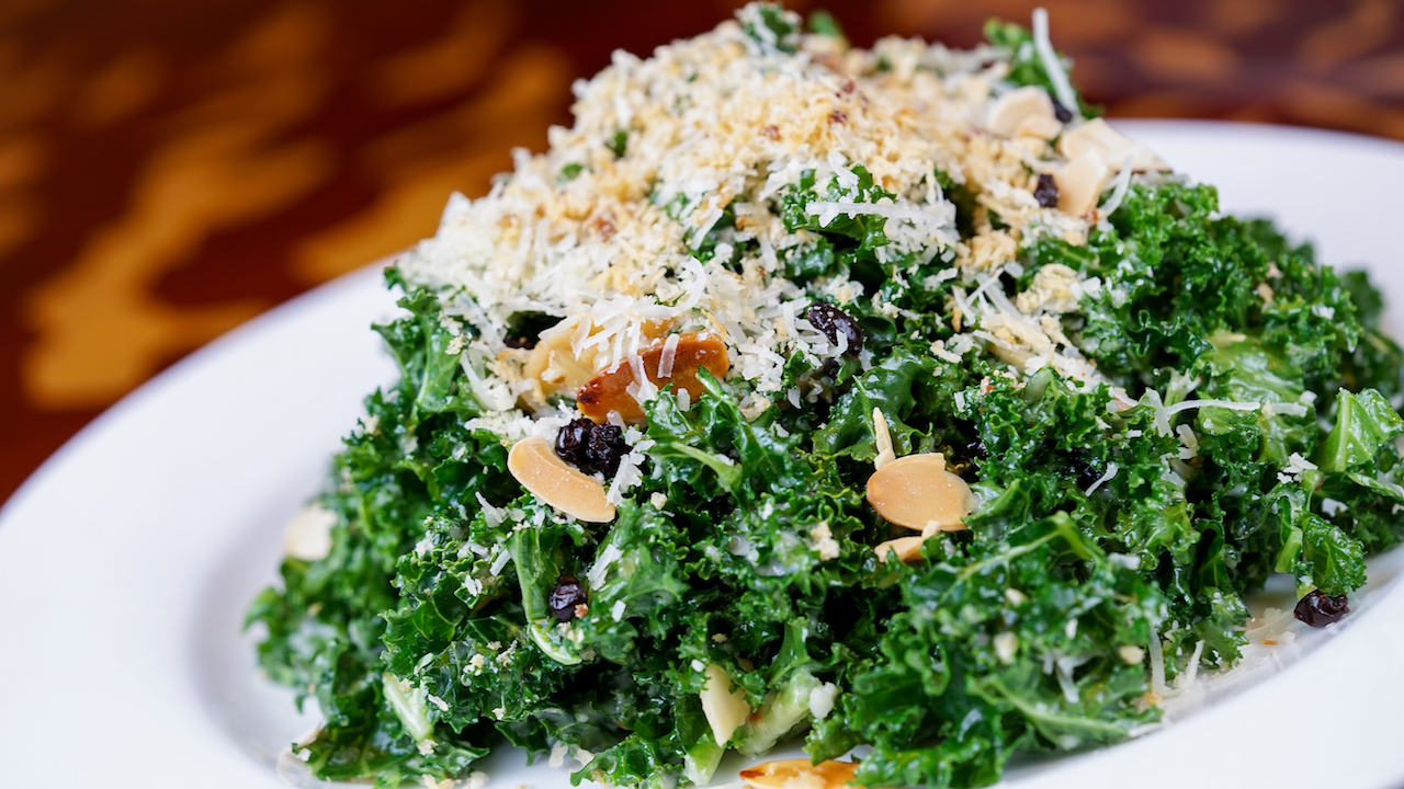 Kale Salad at Storytellers Cafe at Disney's Grand Californian Hotel & Spa