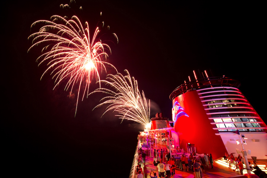Fireworks at Sea with Disney Cruise Line