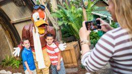 Meet Launchpad McQuack during Donald's Dino-Bash! Celebration at Disney's Animal Kingdom