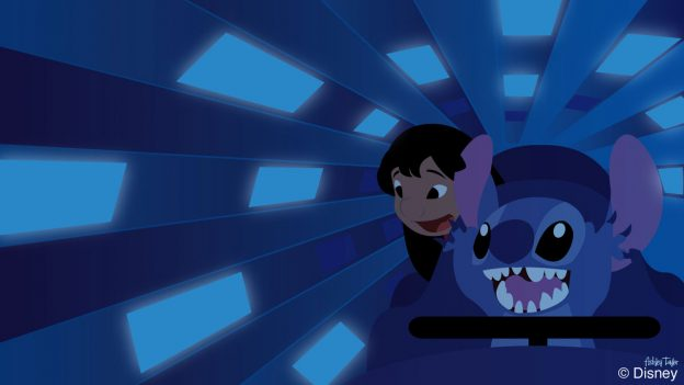Lilo & Stitch Explore Space Mountain - Disney Doodle