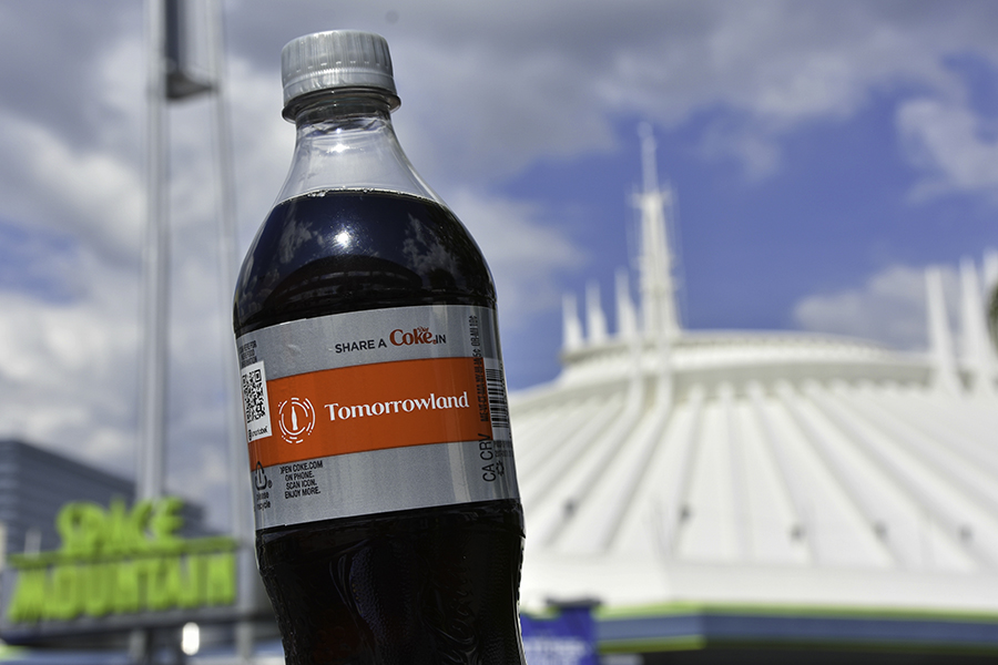 Share a Diet Coke in Tomorrowland Disney Bottle at Disney Parks
