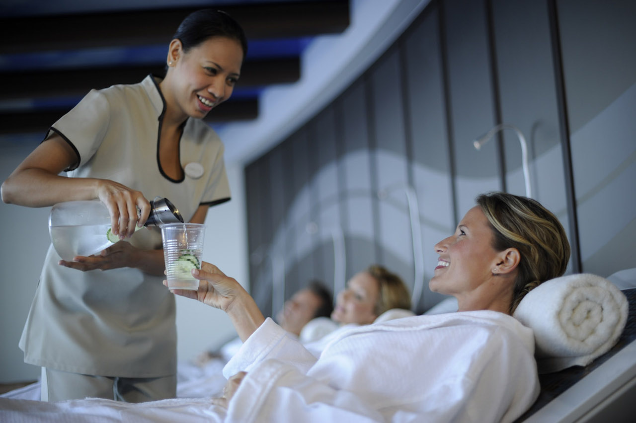 Guests enjoying Sense Spa on Disney Cruise Line