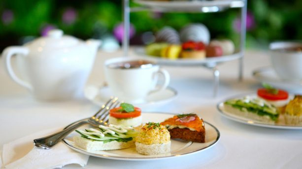 Afternoon tea at Steakhouse 55 at the Disneyland Hotel