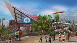 Concept art for Incredibles Park, at Disney California Adventure park
