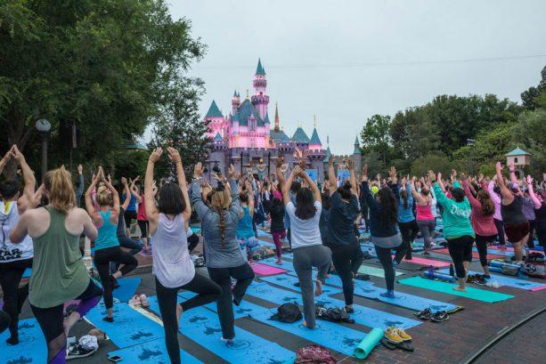 Celebrating International Yoga Day at Disneyland Resort