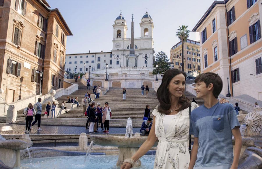 Guests Exploring Rome on a Disney Cruise Line Port Adventure