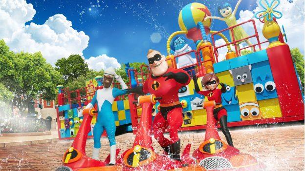 Pixar Water Play Street Party! at Hong Kong Disneyland