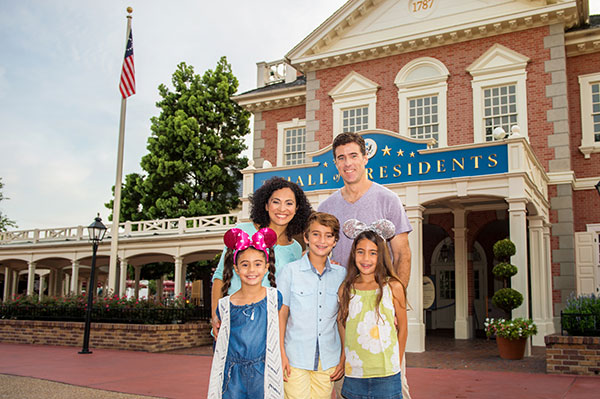 Family Photo in Liberty Square, Walt Disney World Resort