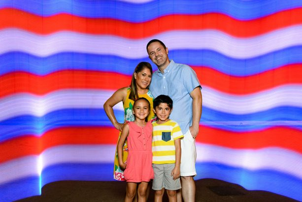 Famiy photo, at Walt Disney World Resort celebrating Independence Day
