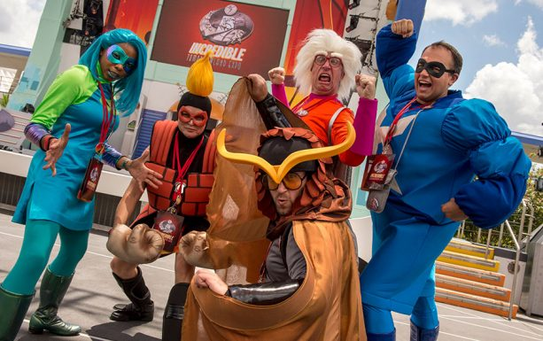 Incredibles 2 cosplays at Incredible Tomorrowland Expo, at Magic Kingdom Park