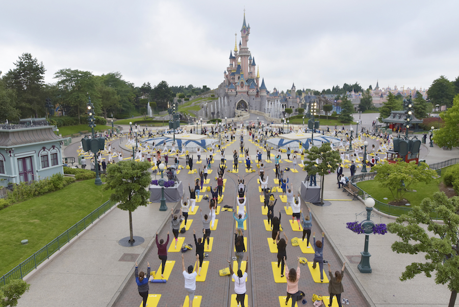 Celebrating International Yoga Day at Disneyland Paris