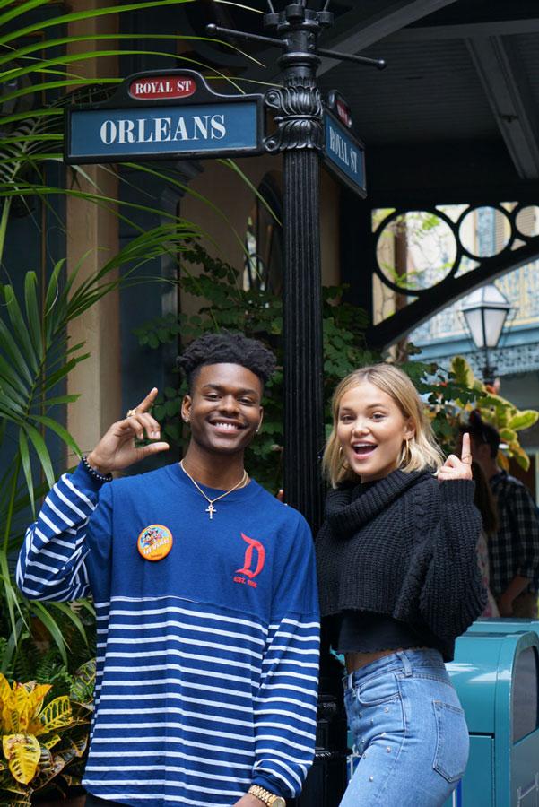Freeform's 'Marvel's Cloak & Dagger' Stars Olivia Holt and Aubrey Joseph visit New Orleans Square at Disneyland park