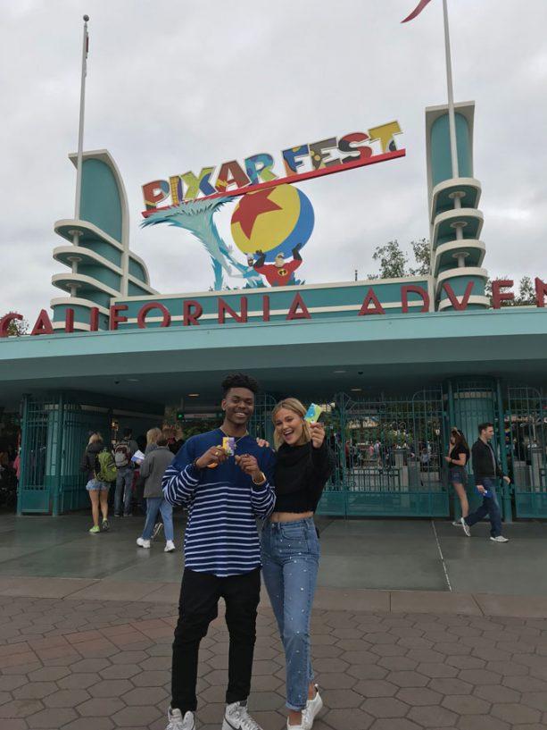 Freeform's 'Marvel's Cloak & Dagger' Stars Olivia Holt and Aubrey Joseph visit Disney California Adventure park for Pixar Fest