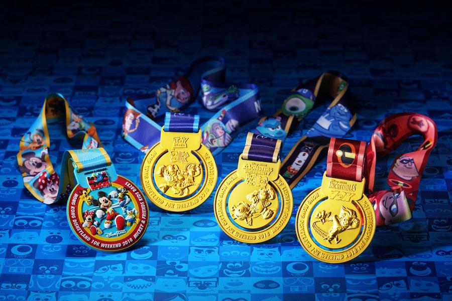 Hong Kong Disneyland Resort's 10K Weekend Medals