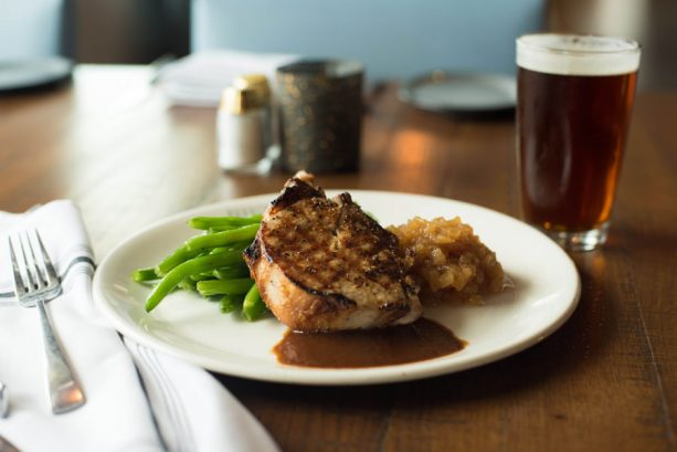 Pork Chop and Applesauce at Paddlefish for Disney Springs Brews and BBQ