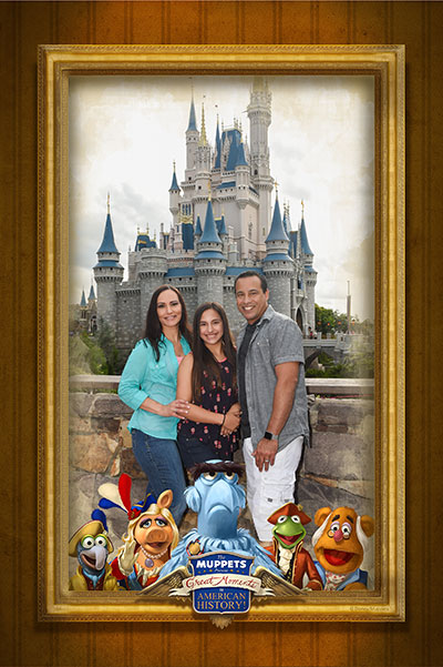 Disney PhotoPass opportunity at Sleepy Hollow in Liberty Square, at Walt Disney World Resort