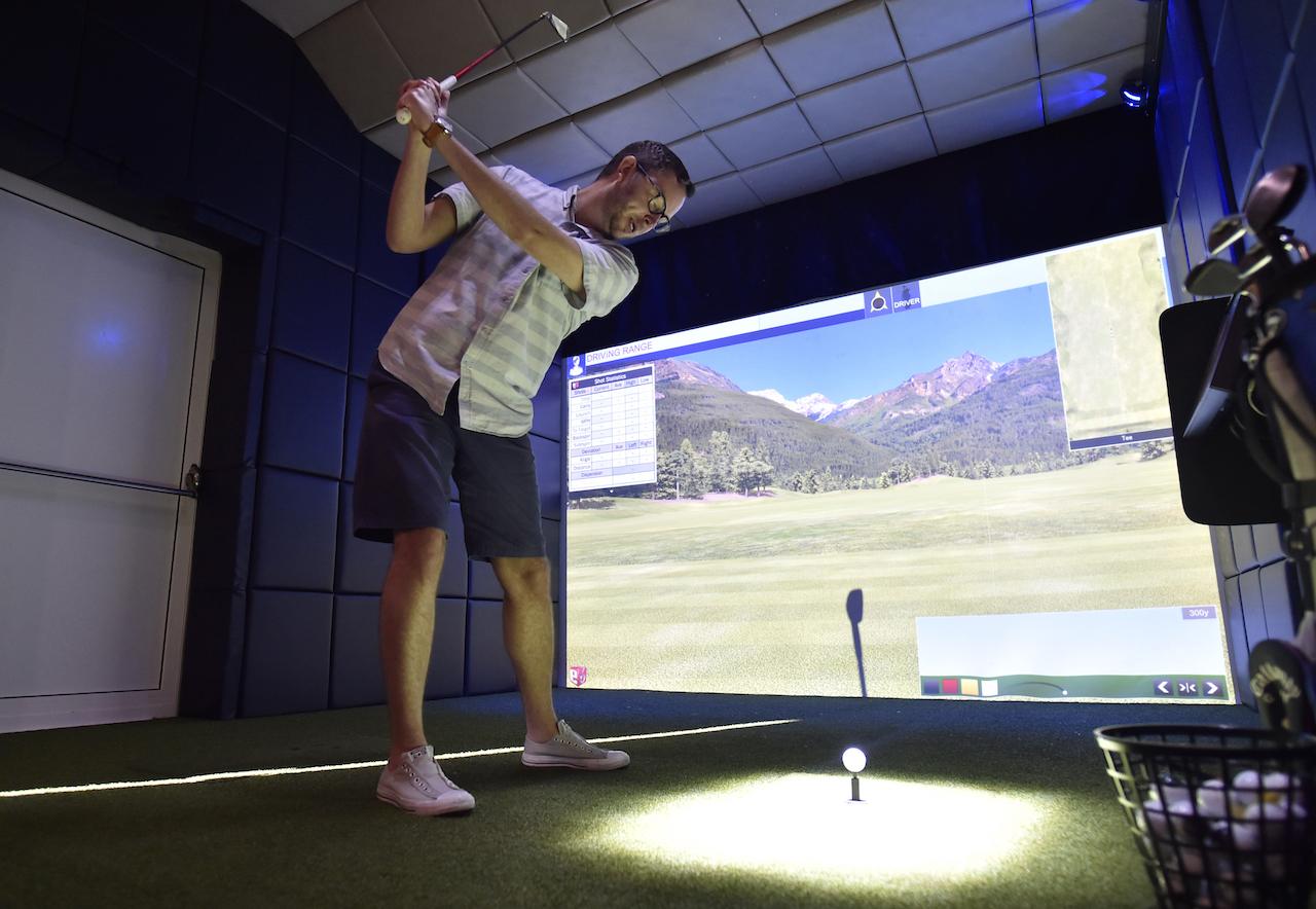 Virtual sports simulator aboard the Disney Dream and Disney Fantasy