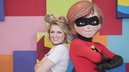 """""""American Idol"""" winner, Maddie Poppe with Mrs. Incredible, Disneyland Resort"""