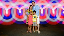 Family photo at Walt Disney World Resort