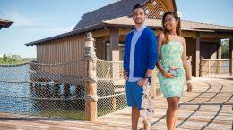 Posing in front of Disney's Polynesian Villas & Bungalows