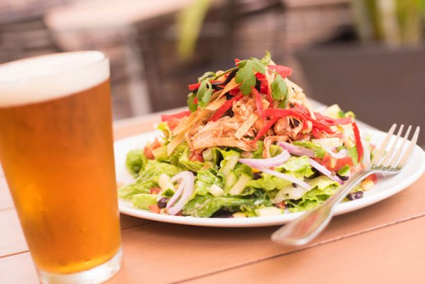 BBQ Chicken Salad at Wolfgang Puck Express for Disney Springs Brews and BBQ