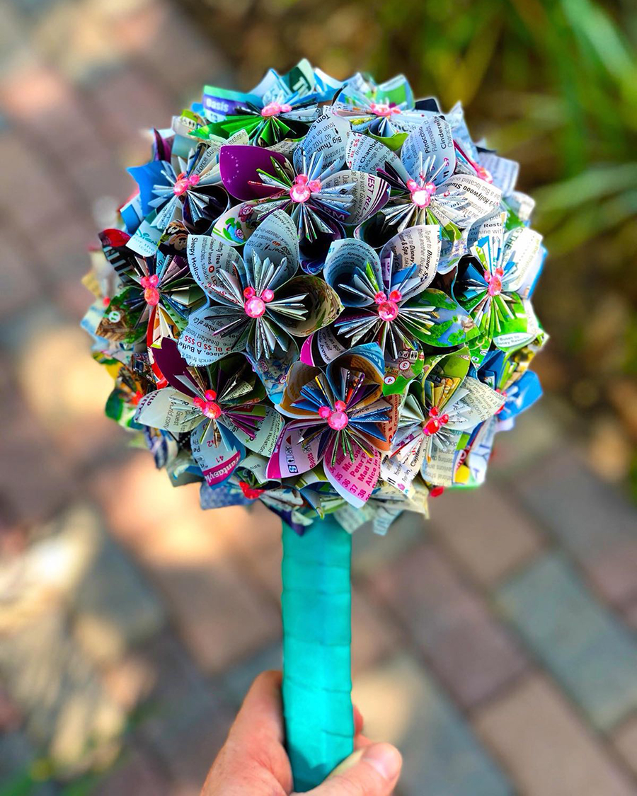 Walt Disney World maps bouquet
