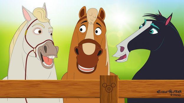 Disney Doodle: Horses at Tri-Circle-D Ranch
