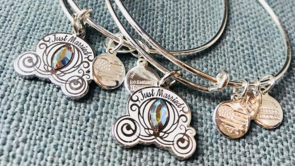"""Just Married"" Alex and Ani bangles from Ever After Jewelry Co. & Accessories (Disney Springs Town Center)"