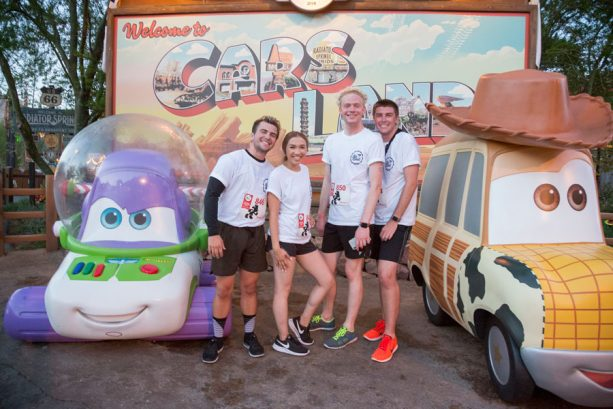 Cast Members in Cars Land during the Cast Member, Friends and Family 5K at the Disneyland Resort