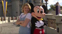 Maddie Poppe and Mickey Mouse, at Walt Disney World Resort