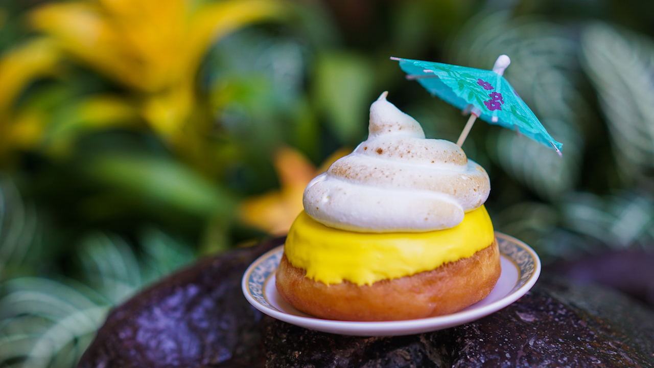Pineapple-Filled Donut with Meringue at Main Street U.S.A. Coffee Cart at Disneyland Park