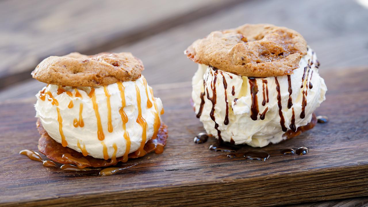 Mini Ice Cream Sandwiches at The Golden Horseshoe at Disneyland Park