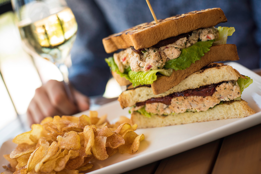 Chicken Salad Sandwich at Wine Bar George at Disney Springs