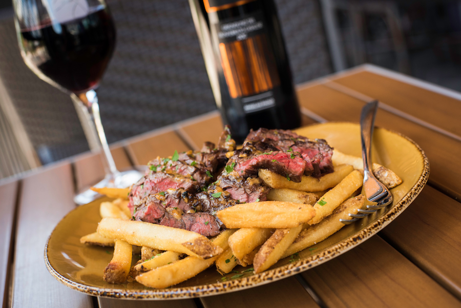 Steak Frites at Wine Bar George at Disney Springs