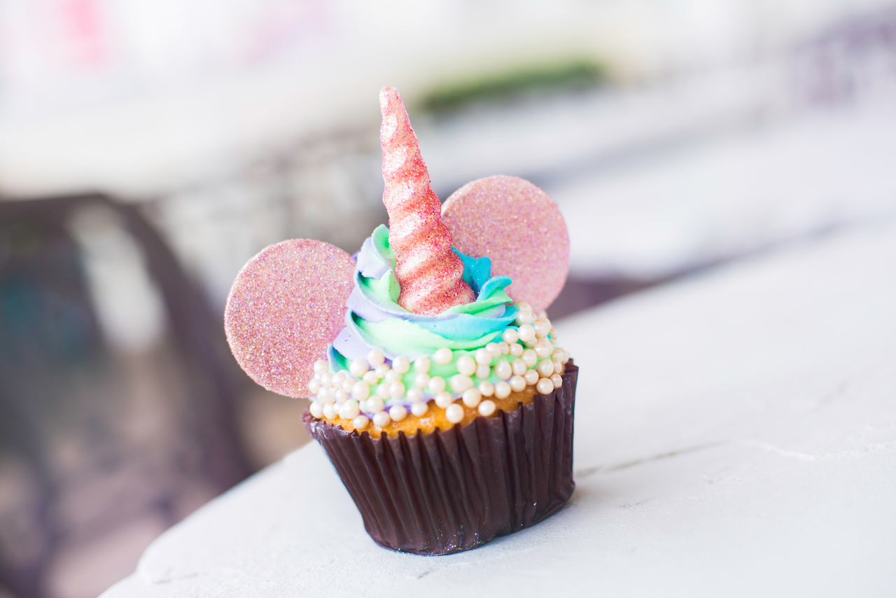 Iridescent Unicorn Ears Cupcake at BoardWalk Bakery at Disney's BoardWalk