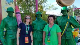 Disney Parks Moms Panelists Brandy B. and Missy F. in Toy Story Land at Disney's Hollywood Studios