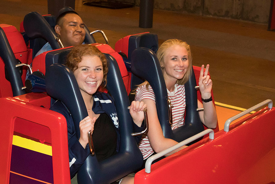 Disney Parks Blog fans eagerly strap in to the Incredicoaster at Disney California Adventure park