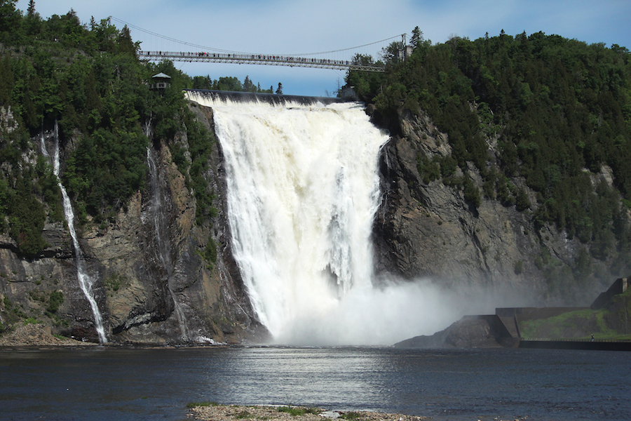 Montmorency Falls in Quebec