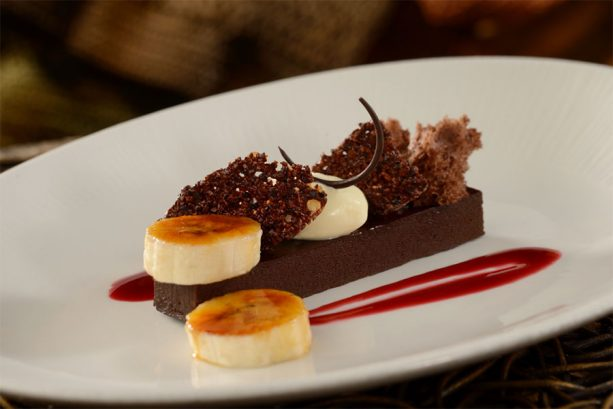South American Chocolate Ganache and Guava Mousse at Tiffins Restaurant