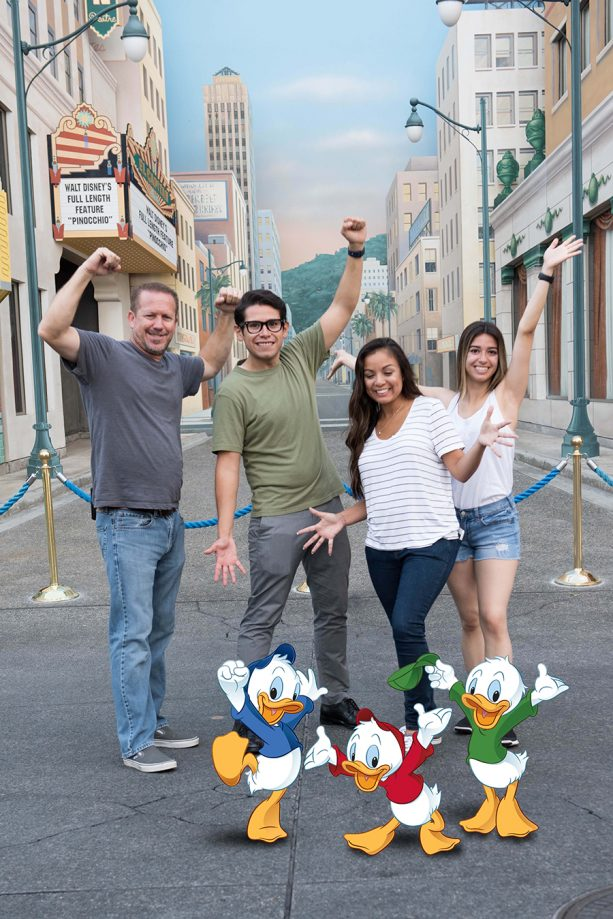 Disney California Adventure park Newphews Photopass