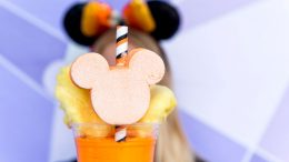 Candy Corn Milkshake at Auntie Gravity's Galactic Goodies For Mickey's Not-So-Scary Halloween Party at Magic Kingdom Park