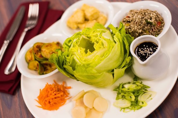 Vegan Tofu Lettuce Wraps at Sci-Fi Dine-In Theater Restaurant at Disney's Hollywood Studios