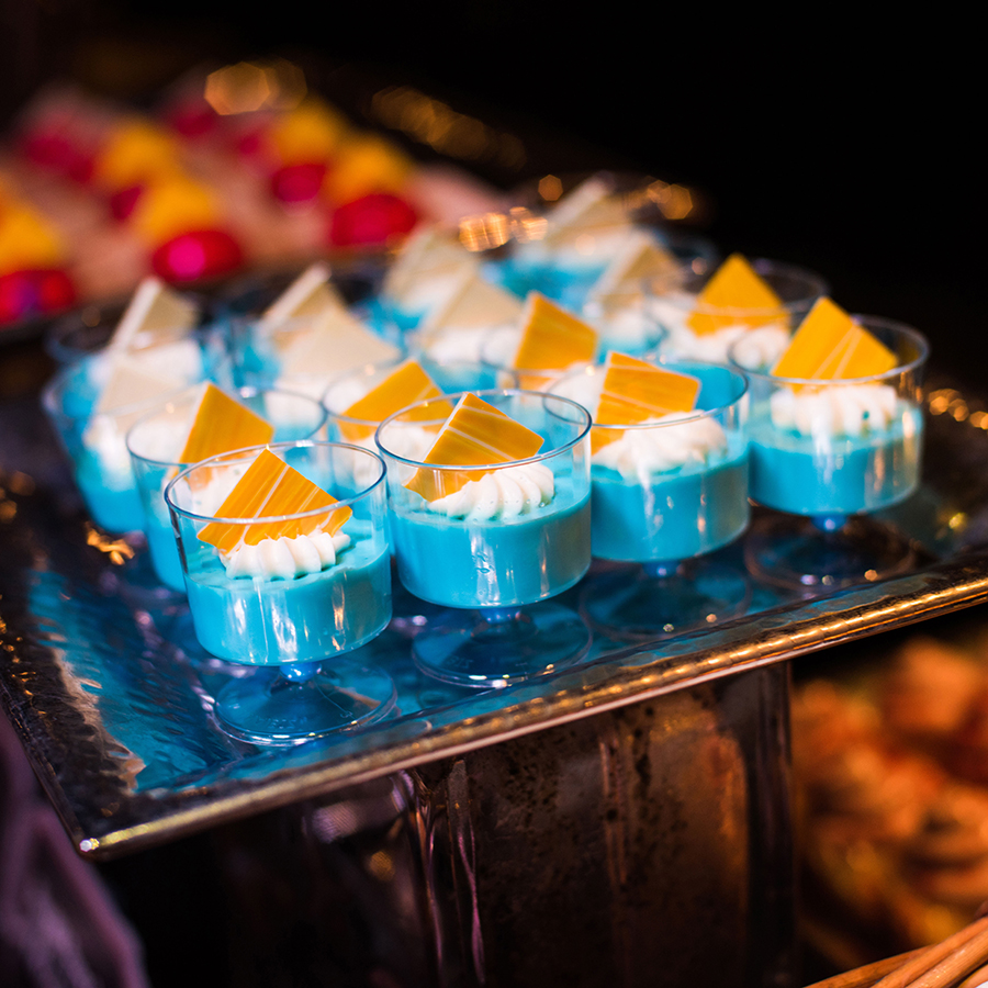 "Blue Milk Panna Cotta at Star Wars: A Galactic Spectacular Dessert Party at Disney's Hollywood Studios""]"