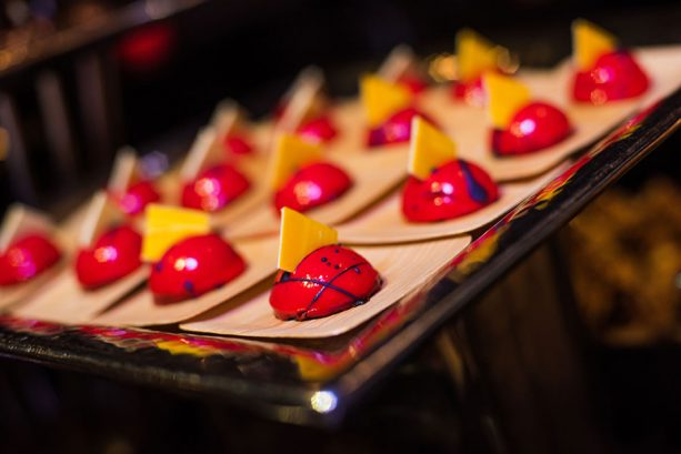 Rasberry Mousse Domes at Star Wars: A Galactic Spectacular Dessert Party at Disney's Hollywood Studios