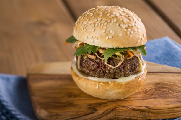 The Impossible Burger Slider at the Earth Eats Marketplace for the Epcot International Food & Wine Festival