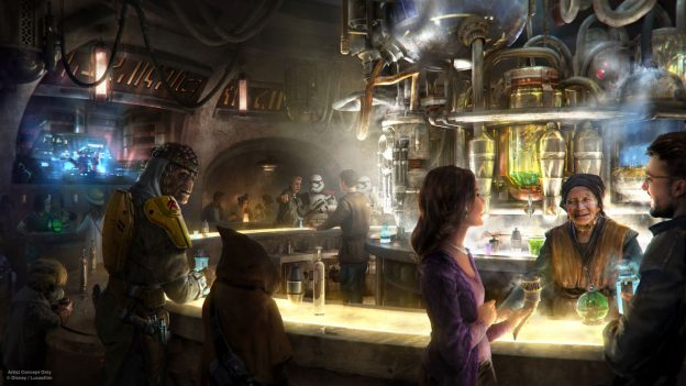 Artwork de l'Oga Cantina à Star Wars : Galaxy Edge.